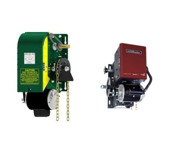 Heavy duty operators for raising and lowering entry.