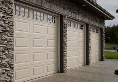 Triple Garage Doors in Saskatoon Installed by Lux